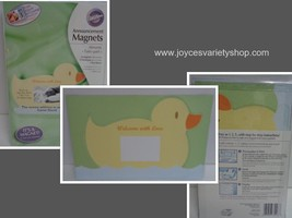 Baby Announcement Magnets 12 Pieces Yellow Duckie NIB DIY Personalize P... - $19.99