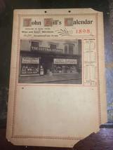 1898 Calendar Stratford On Avon John Hill, Shop Front, High Street Real ... - $25.73