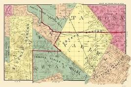 Sonoma South Central County California - Thompson 1877 - 23.00 x 34.70 - $36.58+