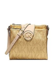 Michael Kors Large Crossbody Signature Metallic Gold Saffiano Crossbody - $181.17