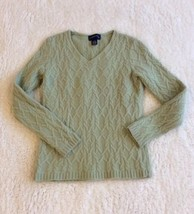 Charter Club Sweater Womens Wool Angora Pullover Light Green Size Small - $15.99