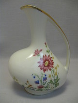 Serving Pitcher Alka Bavaria  Flower & Leaf Designs Gold Accents #3242 - $12.95