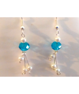 Beautiful Baby Blue Swarovski Crystal Earrings - $10.99