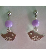 Little Birdy Lavender Jade Stainless Steel Post... - $12.99