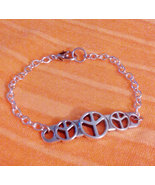 Love and Peace Vintage Style Retro Bracelet  7
