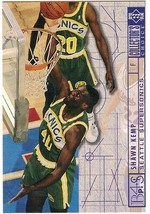 1994-1995 Upper Deck Collector's Choice Card Shawn Kemp #396 Blueprint  - $3.95