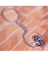 Vintage Style Heavy Duty  Tibetan Silver Rose Key Chain Free Shipping - $10.99
