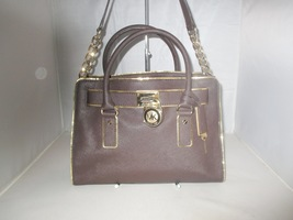 Michael Kors Handbag Hamilton Specchio Saffiano Leather Satchel, Shoulder Bag   - $149.99