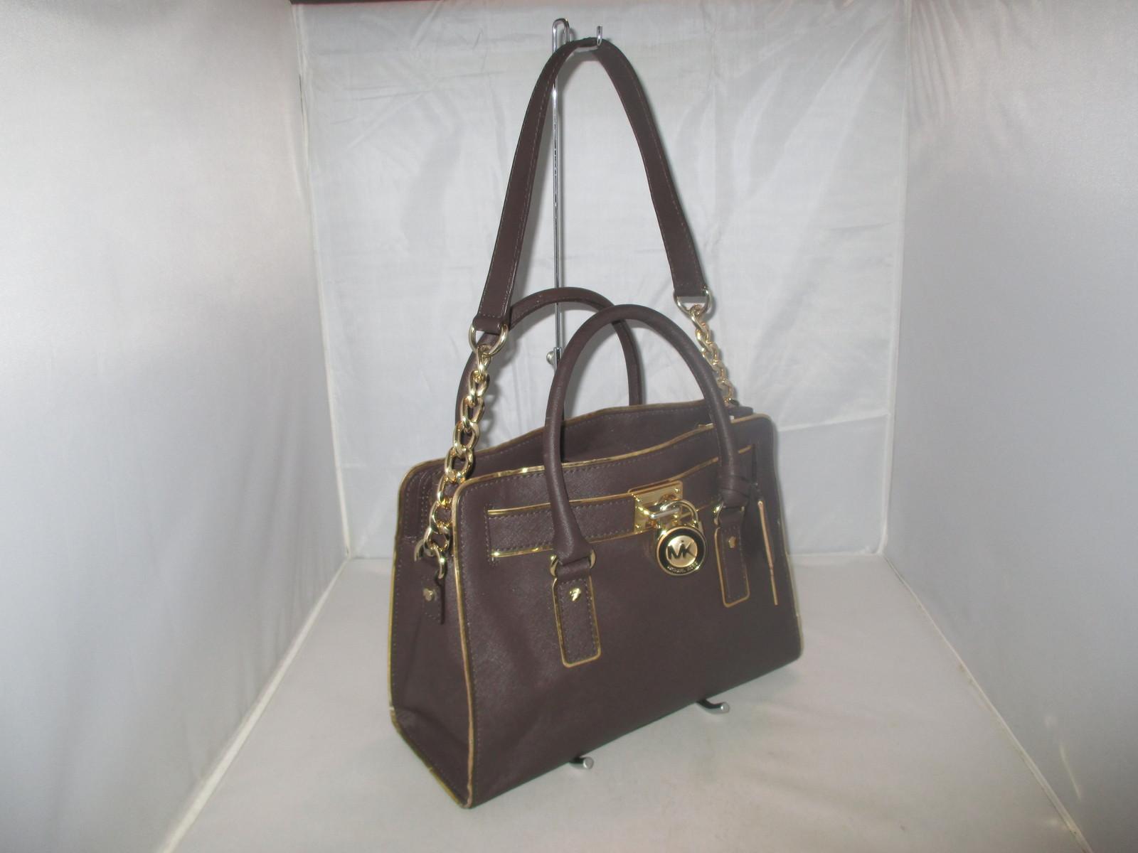 4434546d9119 Michael Kors Handbag Hamilton Specchio Saffiano Leather Satchel