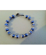 Beautiful Blue Glass Pearl Bracelet - $16.99