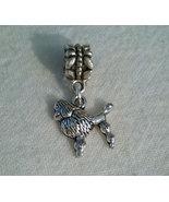 Poodle Charm For European Necklaces Or Bracelets - $3.99