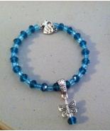 Beautiful Blue Crystal Butterfly Bracelet - $16.99