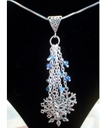 Beautiful Blue Swarovski Crystal Tibetan Silver... - $23.99
