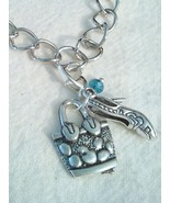 Handbag And High Heel Tibetan Silver Clip Charm  - $7.99