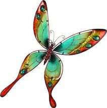 NEW Handcrafted Metal Butterfly Hanging Wall Ar... - $33.54