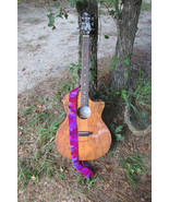 Variegated Purple Crochet Guitar Strap for Guitar with two End Pins - $8.00