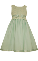 Little Girls 4-6X Lace And Linen Cutout Back Fit Flare Dress