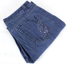 Chico's Platinum Jeans Embellished Stitching Back Pocket  ~ SIZE 1 Regular - $9.86
