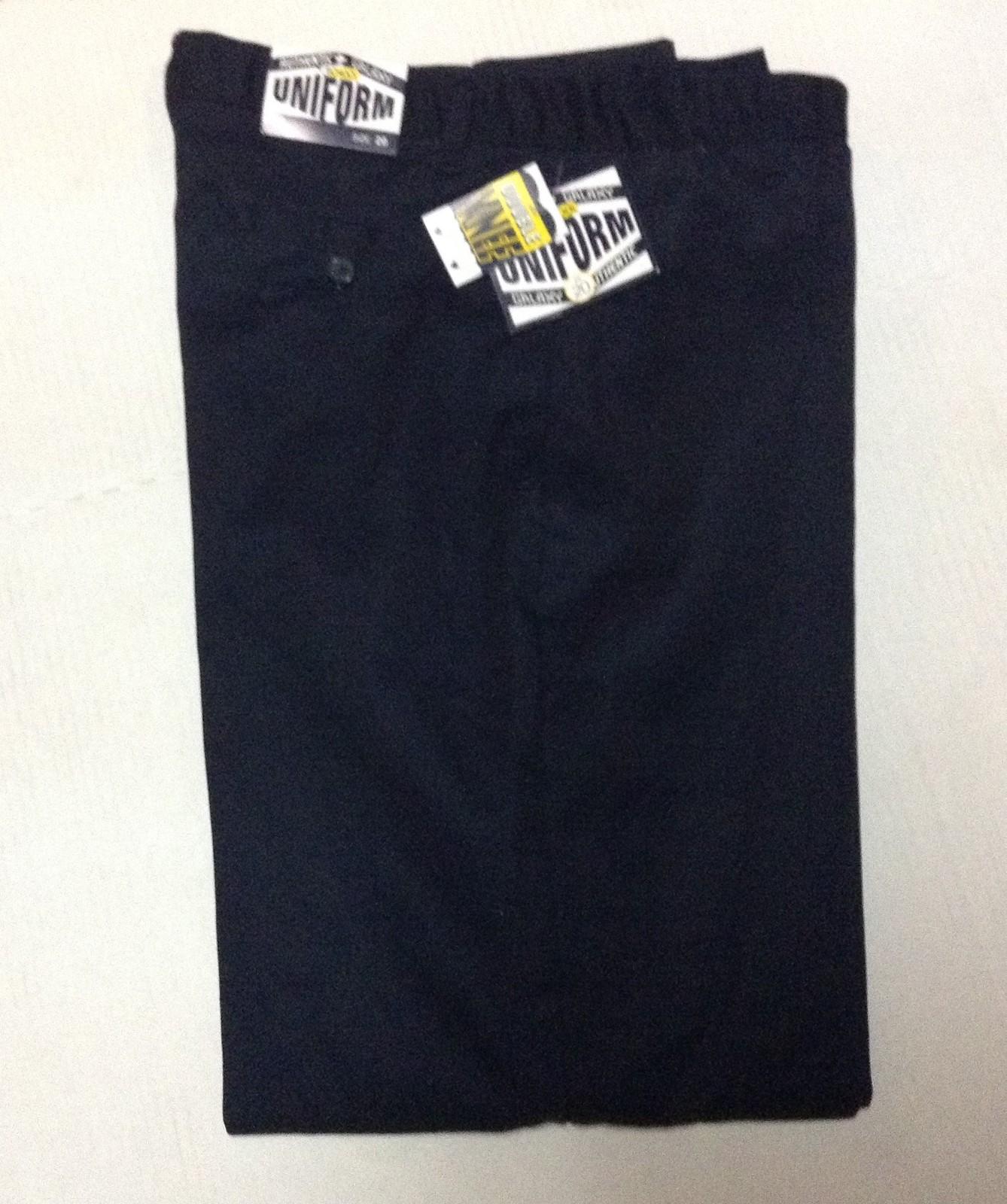Galaxy Authentic Boys School Uniform Pants Black NWT Sz 20 Double Knee XBF-120N