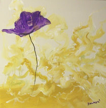 Original 8x10 Floral Canvas Wall Art  -: rdowar... - $19.00