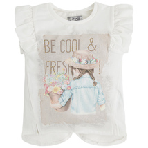 Little Girls 2T-9 Be Cool and Fresh Graphic Print Top, Mayoral