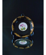 Vintage Royal Sealy China Saucer Black Cobalt Gold Floral Center Luster ... - $20.00
