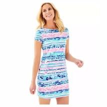 NWT Large Lilly Pulitzer Women's Short Sleeve Marlowe Dress Wave From It... - $94.04