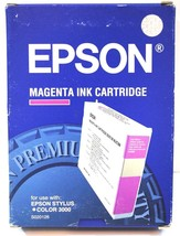 Genuine Epson Cartridge Magenta S020126 Stylus Color 3000 Pro 5000 Brand New  - $9.49