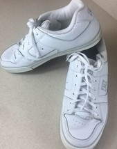 DC Men's Skate Shoe 14 White 300600 Leather Low Top Lace - $19.79