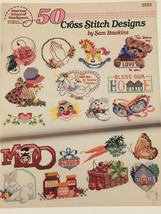 50 Cross Stitch Designs Sam Hawkins Pattern Booklet 3555 Love Flowers Bu... - $4.00