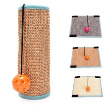 Bell Ball Sisal Scratcher Pad Cat Carpet Mat Anti Claw Eco Friendly Pet ... - $12.49+