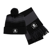Savage AF Embroidered Scarf & Pom Beanie Set - $39.99