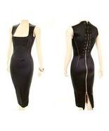 Authentic Vintage Jean Paul GAULTIER Lace Up Corset Wetsuit Gown Bodycon... - $1,500.00