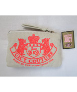 Juicy Couture Coin Bag Canvas Scottie Dogs Love G&P NEW - $24.74