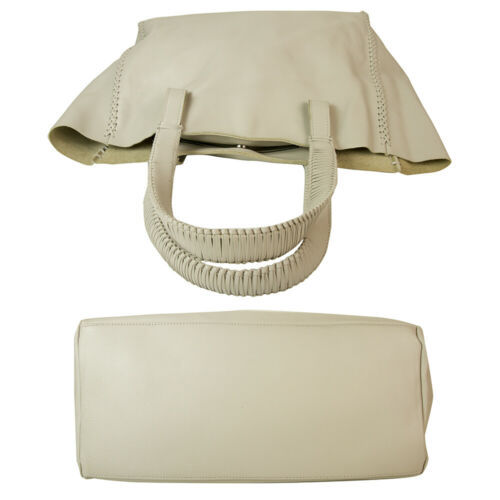 "Callista Crafts Ultra Light gray ""Ice"" color Tote Shoulder Bag Handbag Hobo image 2"