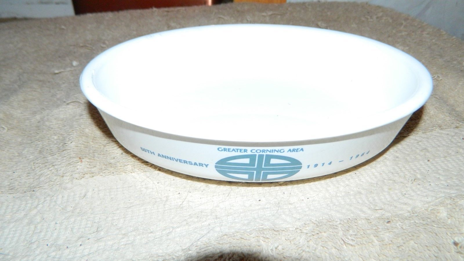 Primary image for CORNING WARE H-7 RARE 1964 CORNING NY CHAMBER OF COMMERCE DISH FREE USA SHIP