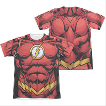 The Flash Muscle Two-Sided Costume Sublimation T-Shirt Red - $34.98+