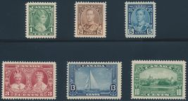 1935 Silver Jubilee King George V Set of 6 Canada Stamps Catalog 211-16 MNH