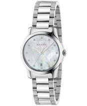 Gucci YA126542 White Dial Stainless Steel Strap Ladies Watch - $624.99