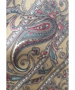 Vintage CHRISTIAN DIOR Paisley Beige Blue Tie 100% Silk Italian Made  - $13.96