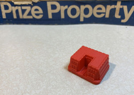 Prize Property Game Piece Health Spa Building  Red Milton Bradley 1974 - $3.95