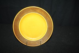 "Vtg Harmony House Aurora Ironstone 8"" Salad Bread Plate Brown Holiday Table Decor - $19.95"