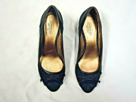 COACH black wedge style shoe   Size 6  Bow accent   - $29.99
