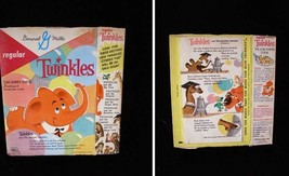 General Mills Twinkles Cereal Box 1960s Twinkles and The Balloon Machine - $54.99