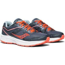 Womens Saucony Cohesion 11 Running Shoes - Grey/Red Size 5 US Red Grey - $56.09