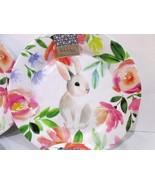 x4 Nicole Miller Easter Flower Floral  Bunny Rabbit Melamine Dinner Plates  - $44.54