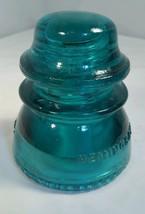 Vintage Hemingray 42 Aqua Blue Glass Insulator USA - $13.06