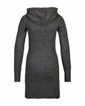 Bench Oakleigh Knit Dark Gray Long Sleeve Hooded L Sexy Clubbing Knitted Dress image 3