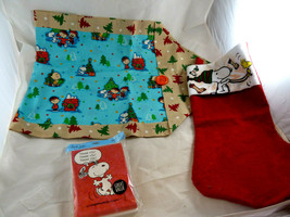 Vintage Lot Hallmark PEANUTS Snoopy Thank You cards stocking Table runne... - $18.80