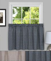 "Sydney Plaid Decorative Kitchen Window Curtain 36"" Tier Pair - $17.29"